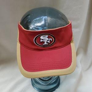 San Francisco SF 49ers Red Gold Visor